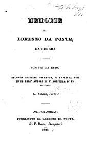 Memorie di Lorenzo Da Ponte, da Ceneda: in tre volumi, Volume 2