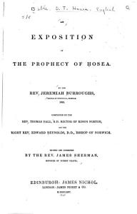 An Exposition of the Prophecy of Hosea PDF