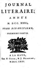 Journal litéraire: Volume11;Volume18