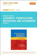 Prioritization  Delegation  and Assignment   Pageburst E book on Kno Retail Access Card Book