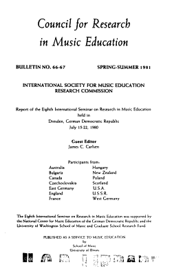 Bulletin   Council for Research in Music Education PDF