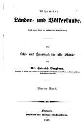Allgemeine Länder und Völkerkunde: -5. Bd. Das europäische Staatensystem, nach seinen geographisch-statistischen Hauptverhältnissen. 1839-43