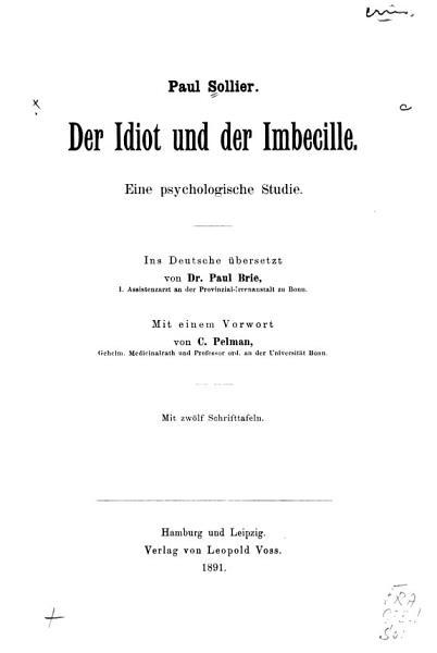 Der Idiot Und Der Imbecille