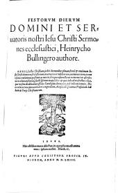 Festorum dierum Domini ... Jesu Christi sermones ecclesiastici