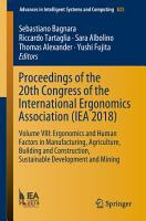Proceedings of the 20th Congress of the International Ergonomics Association  IEA 2018  PDF