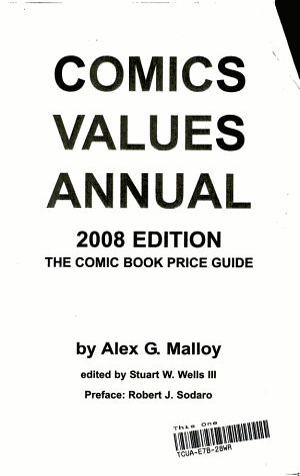 Comics Values Annual 2008 PDF