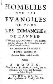 Homilies sur les evangiles de tous les dimanches de l'année: Volume2