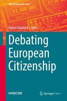 Debating European Citizenship PDF