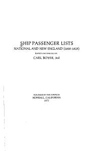 Ship Passenger Lists PDF