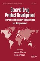 Generic Drug Product Development PDF