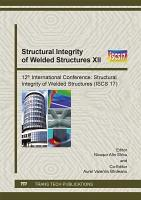Structural Integrity of Welded Structures XII PDF