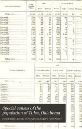 Special census of the population of Tulsa, Oklahoma: April 15, 1915