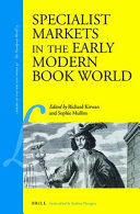 Specialist Markets in the Early Modern Book World PDF