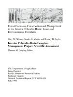 Forest Carnivore Conservation and Management in the Interior Columbia Basin PDF