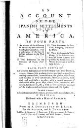 An account of the Spanish settlements in America