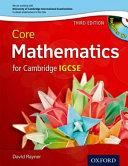 Core Mathematics for Cambridge IGCSE   with CD ROM  Third Edition  PDF
