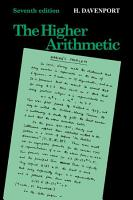 The Higher Arithmetic PDF