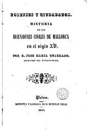 Forenses y ciudadanos: historia de las disensiones civiles de Mallorca en el siglo XV