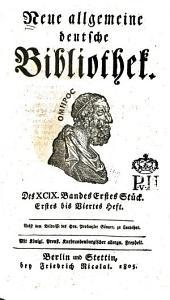 Neue allgemeine deutsche Bibliothek: Band 99