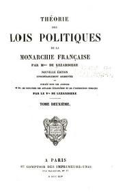 Théorie des lois politiques de la monarchie française: Volume2