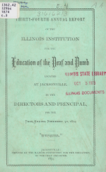 Annual Report of the Illinois Institution for the Education of the Deaf and Dumb
