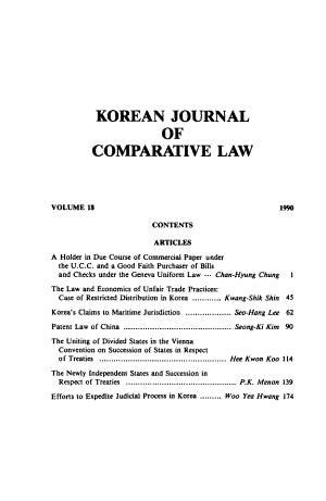 Korean Journal of Comparative Law PDF