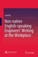 Non native English speaking Engineers    Writing at the Workplace PDF