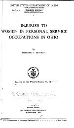 Injuries to Women in Personal Service Occupations in Ohio