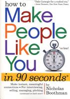 How to Make People Like You in 90 Seconds or Less PDF