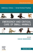 Emergency And Critical Care Of Small Animals An Issue Of Veterinary Clinics Of North America Small Animal Practice E Book