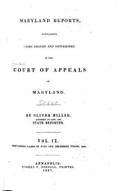 Maryland Reports: Cases Adjudged in the Court of Appeals of Maryland, Volume 9