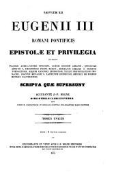 Patrologiae latina cursus completus ... series secunda: Volume 180