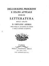 Dell'Origine, Progressi E Stato Attuale D'Ogni Letteratura: Contenente ... Delle Scienze Ecclesiastiche ; pt. 2, Volume 7