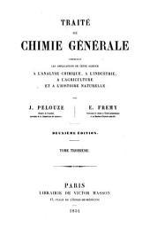 Traité de chimie générale: Volume3