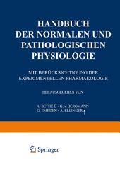 Handbuch der normalen und pathologischen Physiologie: 17. Band - Correlatonen III