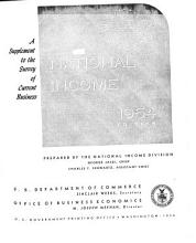 National Income  Supplement to the Survey of Current Business PDF