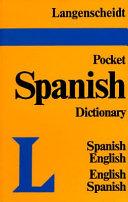 Langenscheidt s Pocket Spanish Dictionary