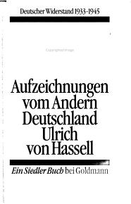 Die Hassell Tageb  cher 1938 1944 PDF