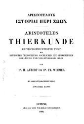 Aristotelous Historiai peri zōōn: Volume 2