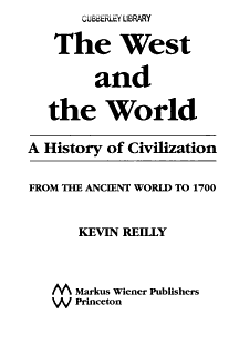 The West and the World Book