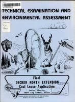 Recommendation rationale Statement for Decker North Extension Coal Lease Application  M 35736 PDF