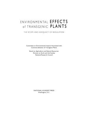 Environmental Effects of Transgenic Plants