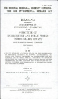 The National Biological Diversity Conservation and Environmental Research Act PDF