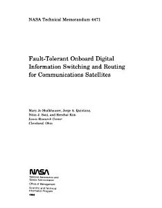 Fault tolerant Onboard Digital Information Switching and Routing for Communications Satellites