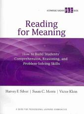 Reading for Meaning PDF