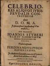 Celebriores Aliqvot Ivris Fevdalis Controversiae