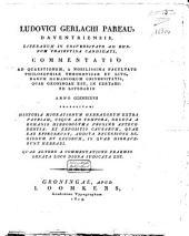 Commentatio ad quaestionem