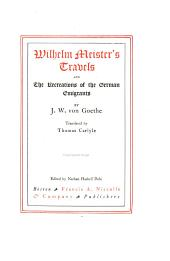 Wilhelm Meister's travels: and The recreations of the German emigrants