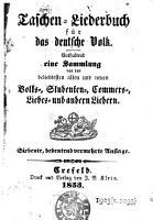 Taschen Liederbuch f  r das deutsche Volk PDF