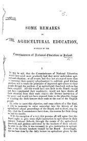 Some Remarks on the Agricultural Education supplied by the Commissioners of National Education in Ireland